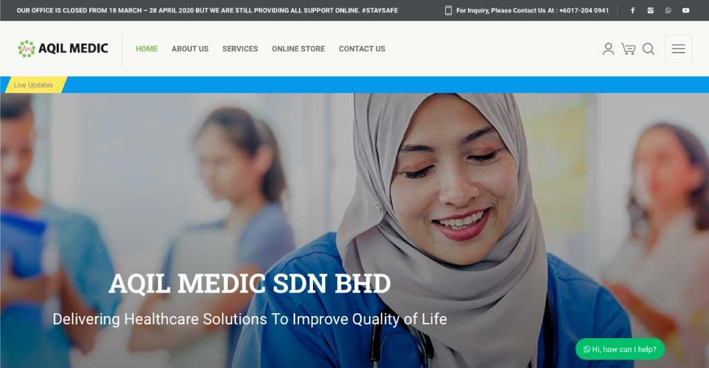Web Design Malaysia Eight-Global-Aqil-Medic