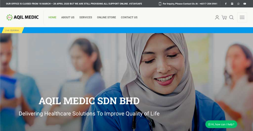 Web Design Malaysia Eight-Global-Aqil-Medic